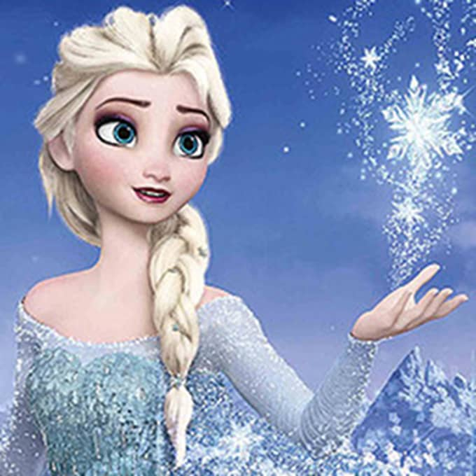 """Filmen """"Frost"""" är en animerad film från Disney. Den släpptes 2013 och blev snabbt en succé. Foto: Disney."""