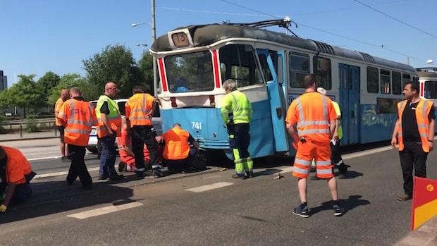 Två spårvagnar i krock – sju personer skadade