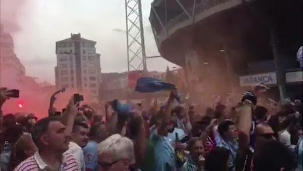Se Celta Vigo-supportrarnas sköna matchuppladdning