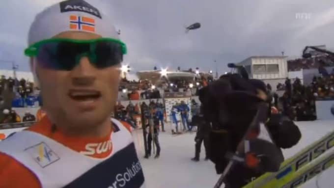 """Kong Carl Gustaf, can you hear me? Björn Borg, Ingemar Stenmark. You guys took a hell of a beating today."" Northugs klassiska citat efter guldet i Holmenkollen 2011."