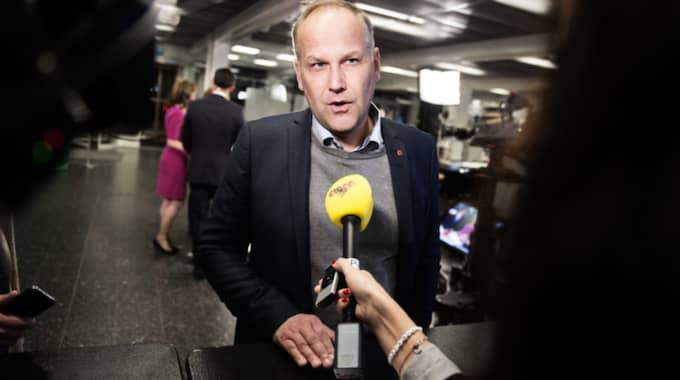Jonas Sjöstedt skräder inte orden när han kommenterar dagens möte i Bryssel. Foto: Anna-Karin Nilsson