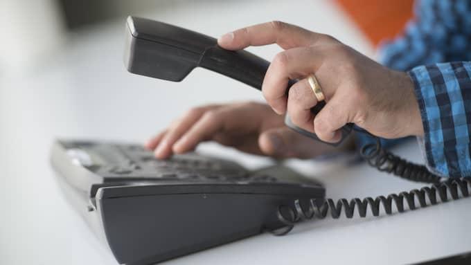 Nu kommer det att bli dyrare att ha abonnemang på fast telefoni via kopparnätet hos Telia. Foto: Fredrik Sandberg / TT NYHETSBYRÅN
