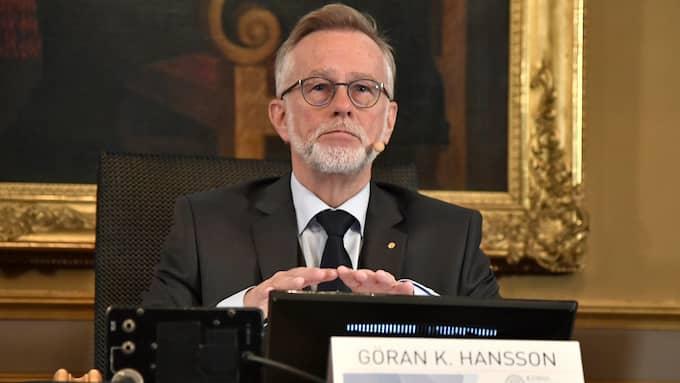 Göran K Hansson, ständig sekreterare för Vetenskapsakademien. Foto: CLAUDIO BRESCIANI/TT / TT NYHETSBYRÅN