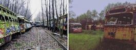 Kusliga gravplatsen för spårvagnar lockar turister