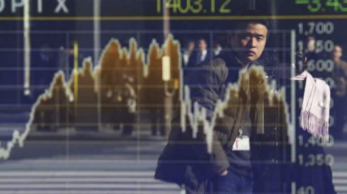 Nedgången på Stockholmsbörsen förvärras under onsdagen. Foto: Koji Sasahara