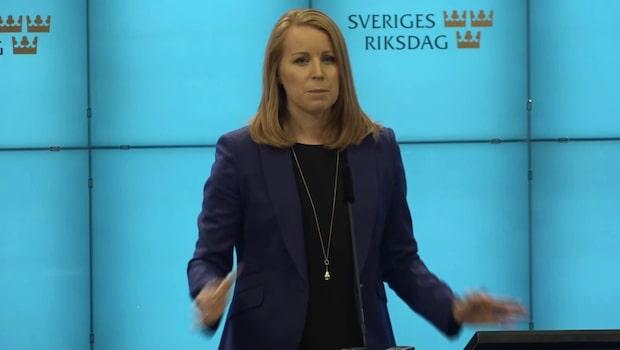 """Annie Lööf: """"Inflytandet från Vänsterpartiet är problematiskt"""""""