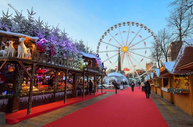 Bryssels julmarknad är två kilometer lång.