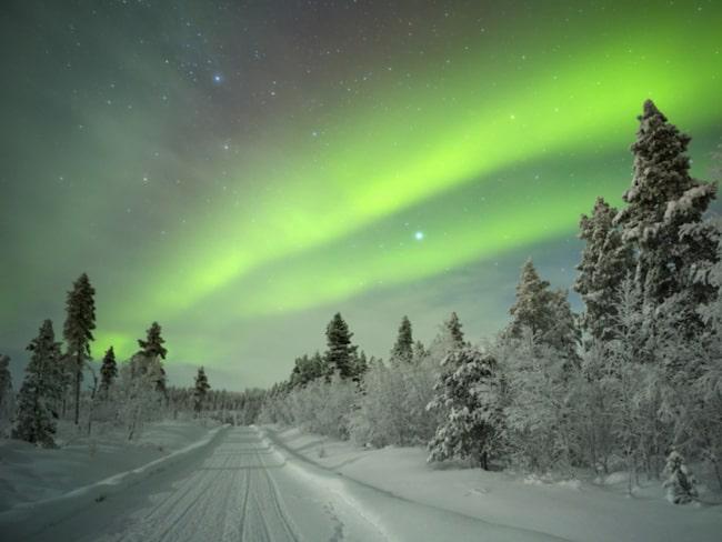 <span>Rovaniemi är även känt för sina många norrsken.</span>