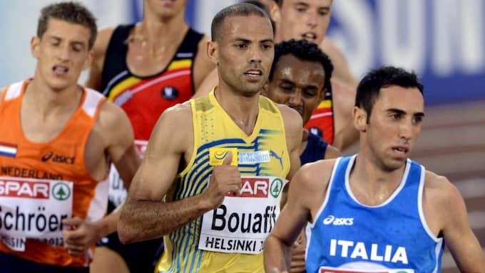 Adil Bouafif, i mitten, har testats positivt för doping. Foto: Niklas Larsson