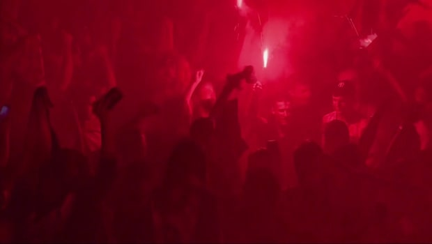 Galna firandet i Kroatien efter historiska finalplatsen