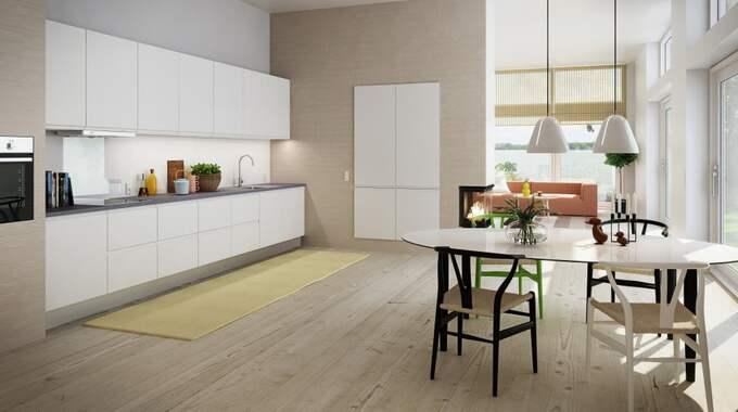 Minimalistiskt. Klassiskt vitt skapar en ljus och fräsch känsla. Här i tidlös och minimalistisk design. Här med inbyggda vitvaror. Next från HTH finns i både matt vit och högblank. Pris vid förfrågan.
