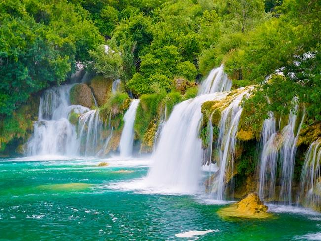 Det magiska vattenfallet Skradinski i Krkas nationalpark.