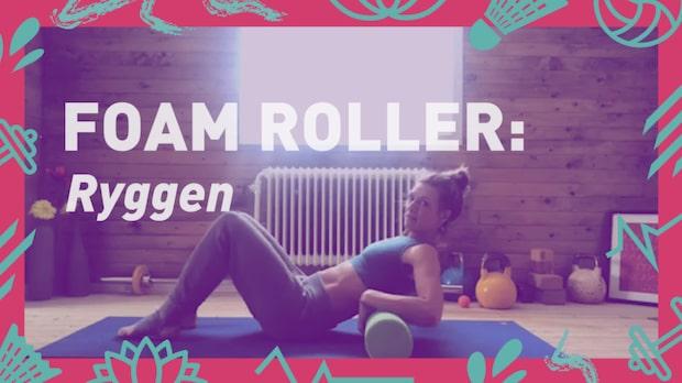 Foam roller: Ryggen