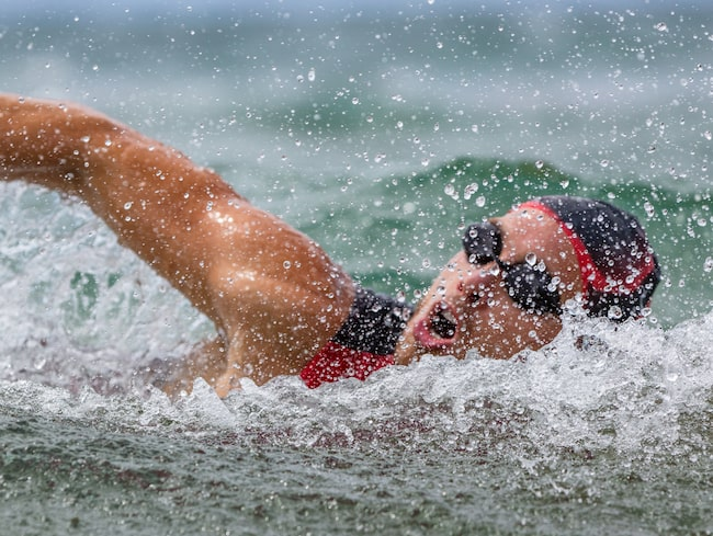 Det var inte sträckan som utmanade deltagarna i Fannie Bay Swim Classic.
