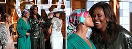 Michelle Obama förvånar  alla på Grammy-galan