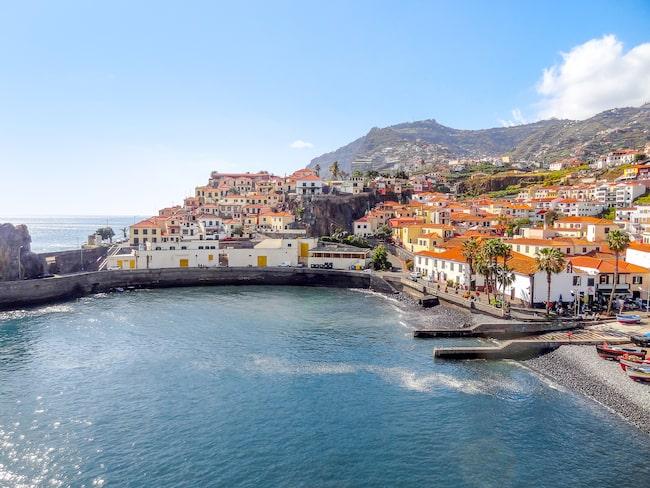 Fiskehamnen i Camara de Lobos nära Funchal.