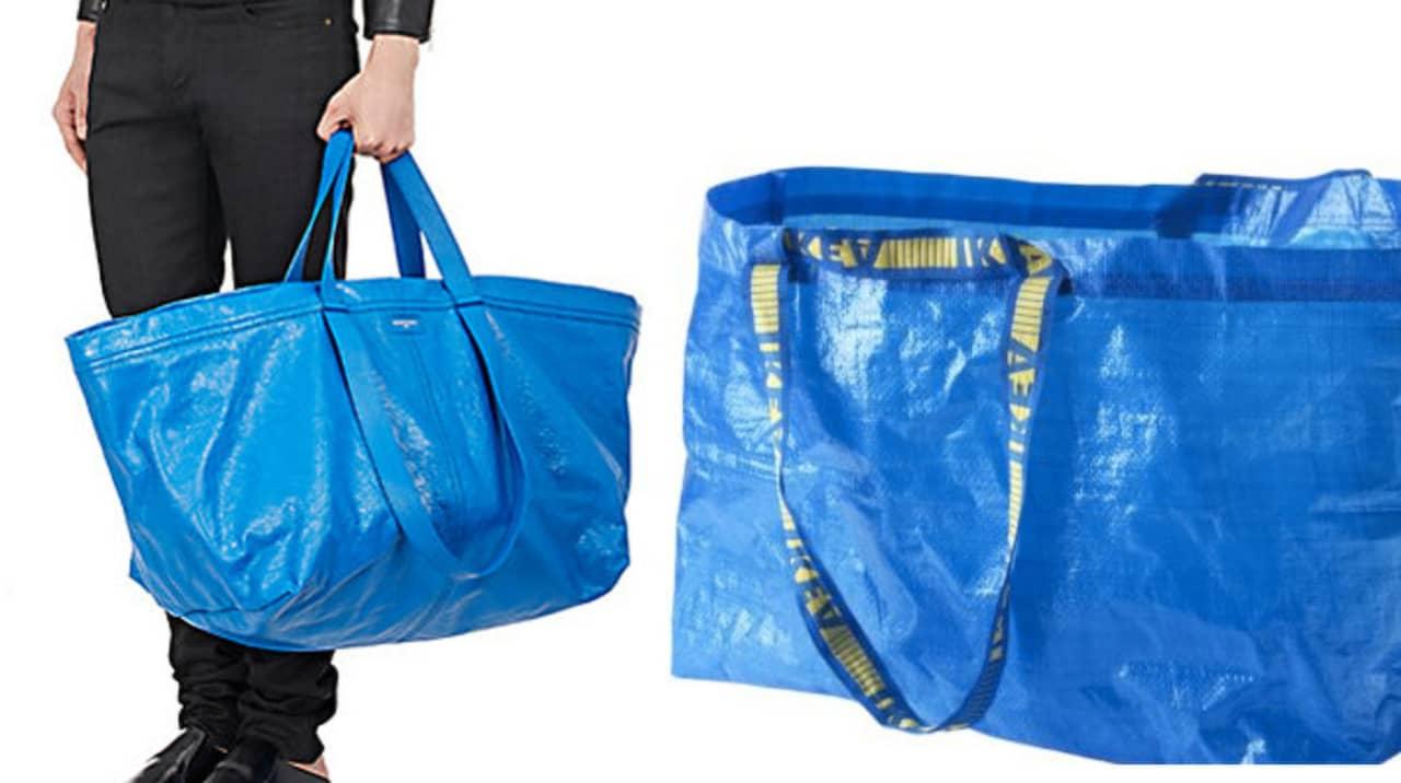 Lyxväskan från Balenciaga som liknar Ikeas 5 kronors kasse