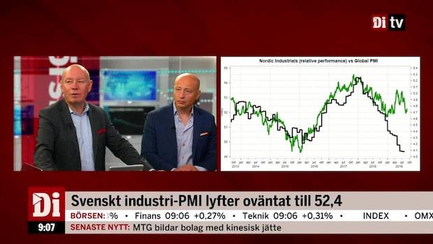 Både kinesiskt- och svenskt industri-PMI steg