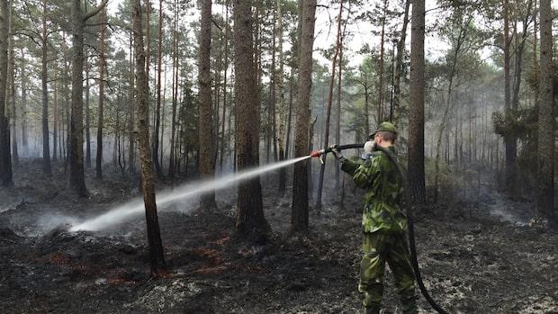 """Räddningsledaren: """"Jobbar hårt för att hålla branden nere"""""""