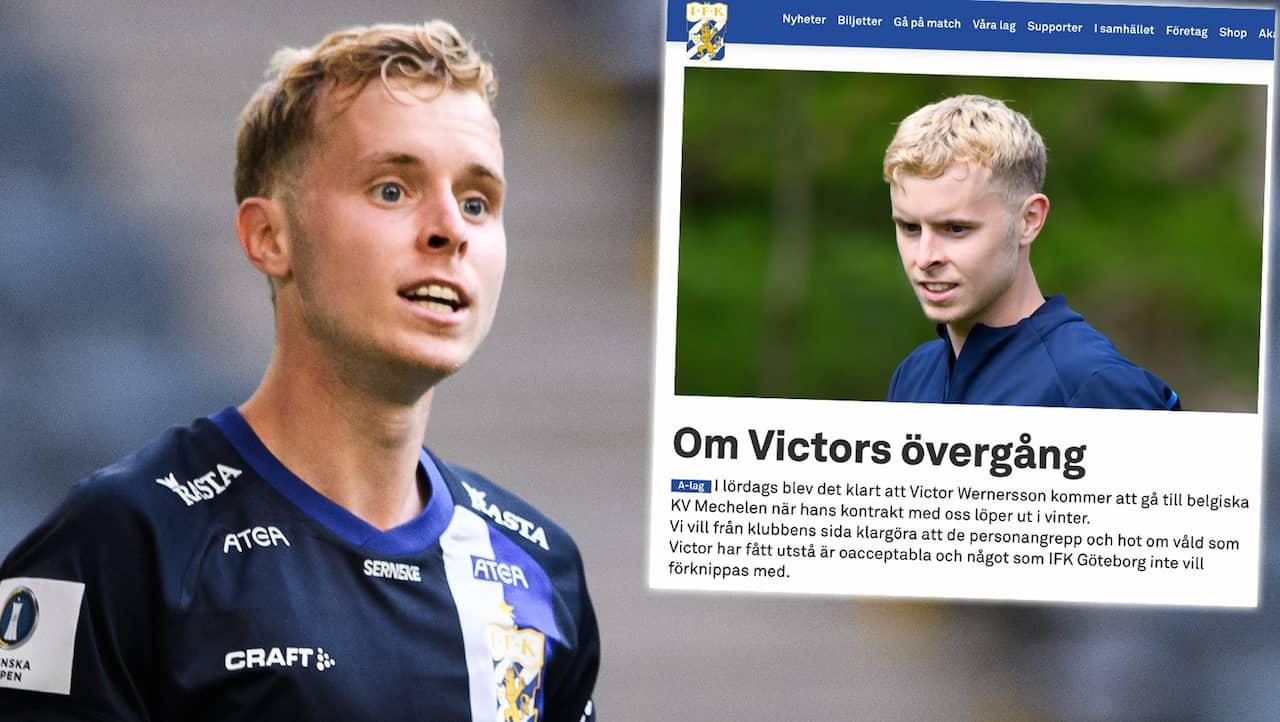 """IFK Göteborg tar avstånd: """"Det som Victor har fått utstå är oacceptabelt"""""""