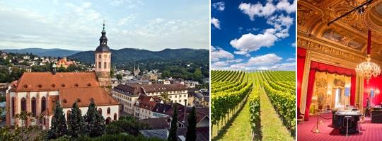 Varmt källvatten och kall Riesling i tyska Baden-BAden.