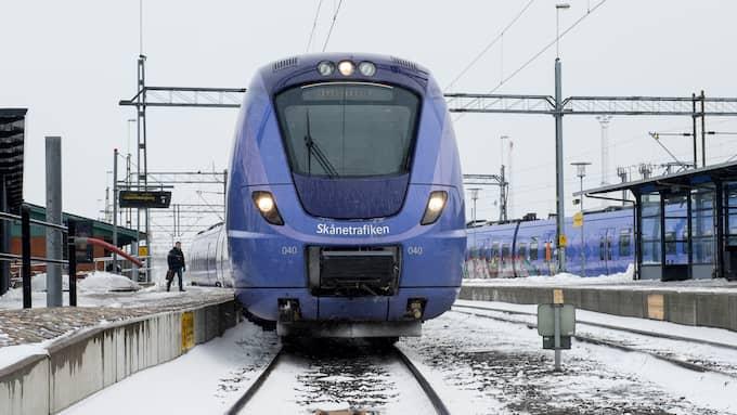 Pågatåget och Öresundstågen är de tåg som påverkas av signalfelet. Foto: TOMAS LEPRINCE