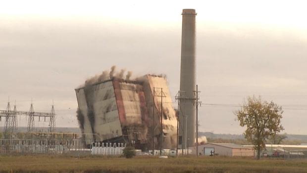 Kraftverket förvandlas till aska på bara några sekunder