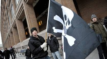 De åtalade i Pirate Bay-målet dömdes till fängelse och rekordskadestånd på fredagen. Foto: Bertil Ericson / Scanpix