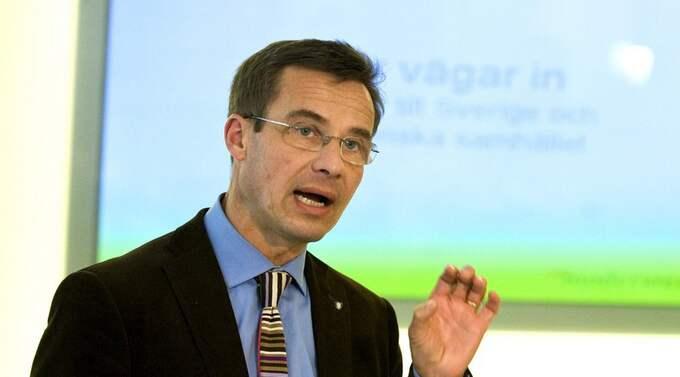 Socialförsäkringsminister Ulf Kristersson. Foto: Bertil Ericson / Scanpix