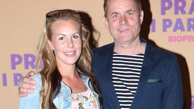 Rickard Olsson tillsammans med fästmön Therese Broberg. Foto: EXPRESSEN