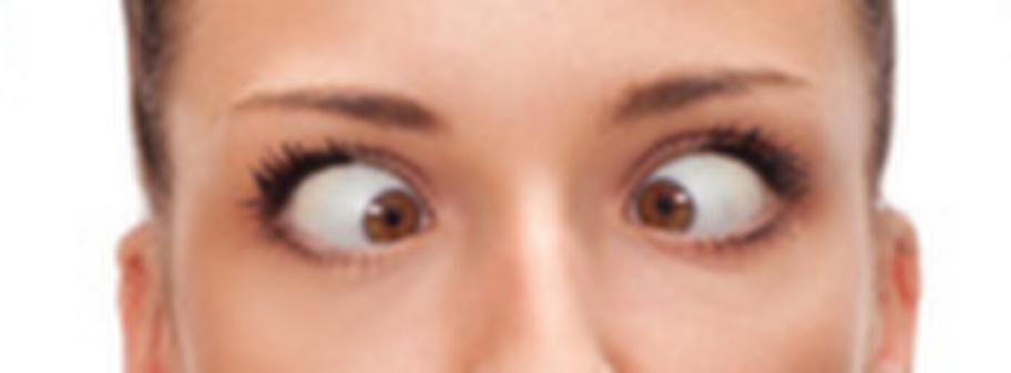 trött i ögonen av linser
