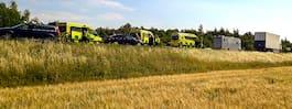 Olyckskaos på sydsvenska  vägar – stora trafikproblem