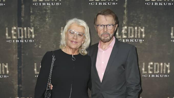 Björn Ulvaeus och hustrun Lena ville se Tomas Ledin. Foto: JARI KANTOLA / STELLA PICTURES