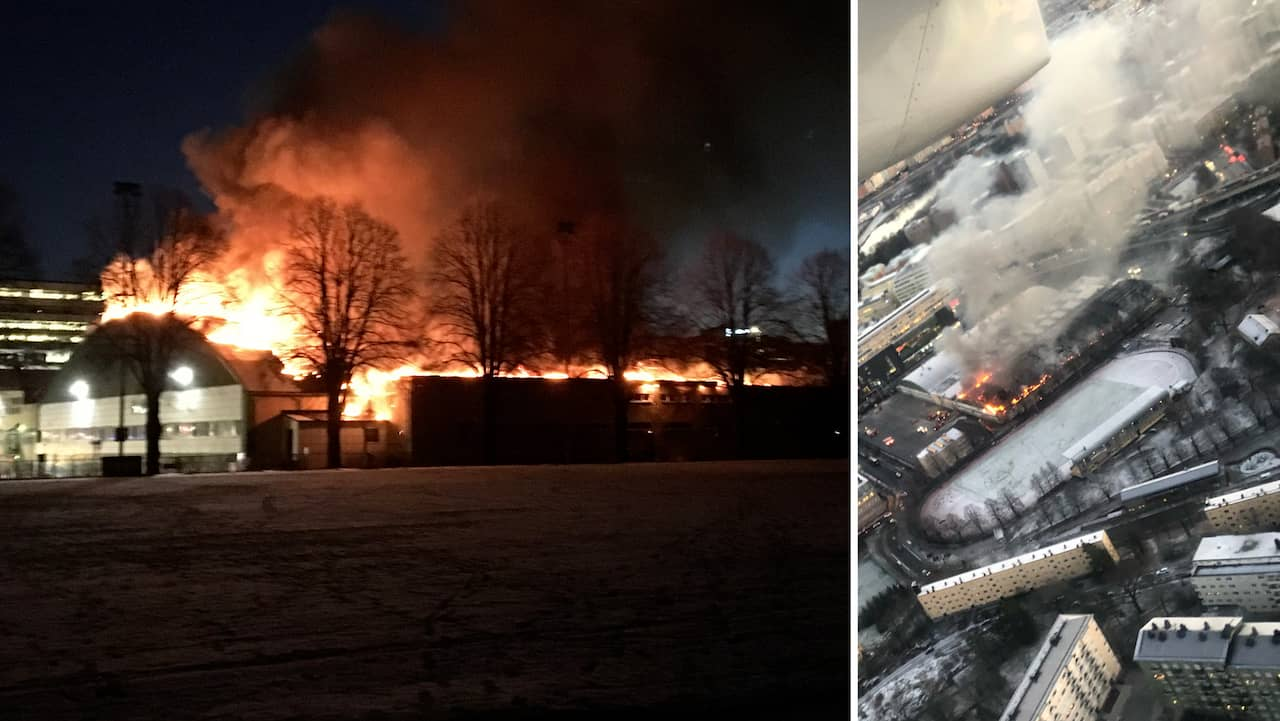 Storbrand i hyreshus under kontroll