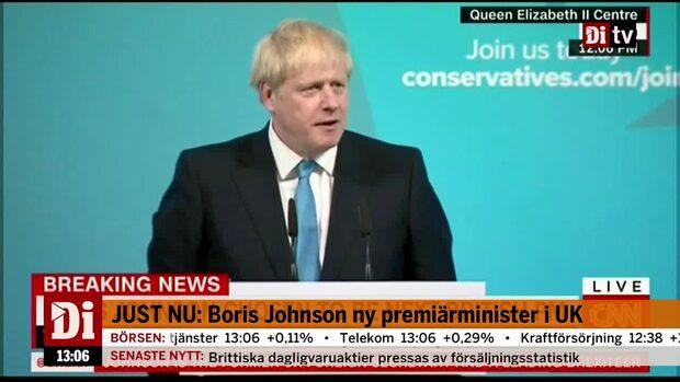 Boris Johnson utnämnd till ny brittisk premiärminister – hör talet!