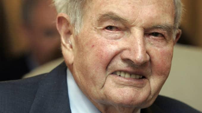 David Rockefeller blev 101 år gammal. Foto: Richard Drew / AP TT NYHETSBYRÅN