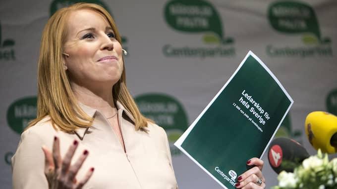 Centerpartiet har ställt sig bakom Sveriges klimat- och miljömål. Men när det krävs konkreta åtgärder för att uppnå dem sätter sig Annie Lööf på tvären. Foto: HENRIK JANSSON