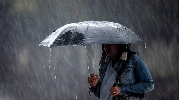 Nya regnsnytingen – när kall luft drar in över landet