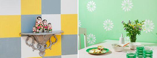 Schabloner och roliga mönster på väggen Måla& tapetsera Expressen Leva& bo
