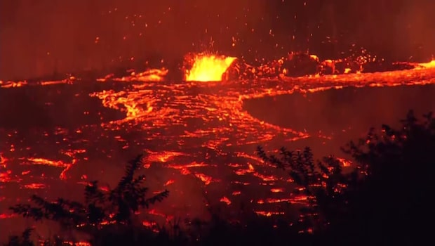 Fler hem förstörda av lava på Hawaii