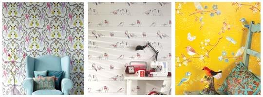 Tapetsera med ljuvliga fåglar på väggen Leva& bo Expressen Leva& bo