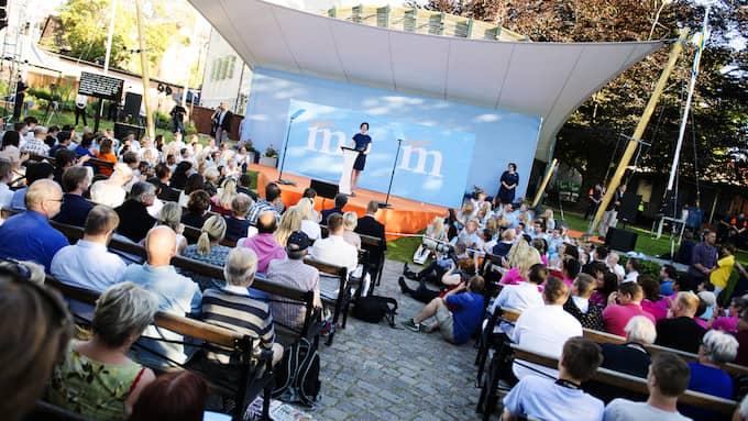 Moderaternas partiledare Anna Kinberg Batra på scenen i Almedalen 2015. Foto: ANNA-KARIN NILSSON EXPRESSEN