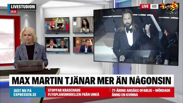 Stjärnproducenten Max Martin tjänar mer än någonsin