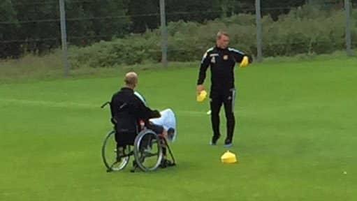 Orovic och Ingelsten förbereder träningen. Foto: Andreas Björnberg