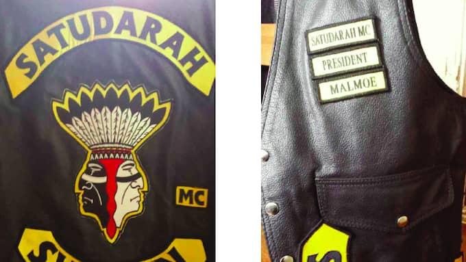Hemma hos Ahmad Zein, Satudarahs president i Malmö, hittade polisen en väst med klubbens emblem. Foto: Polisen