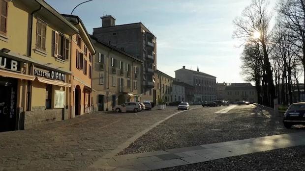 Utegångsförbud efter flera coronafall i Italien