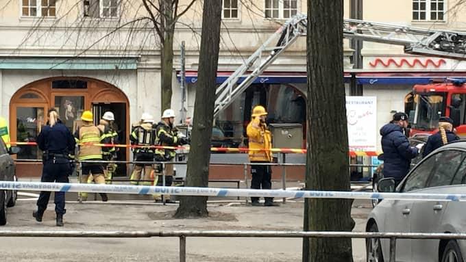 14 personer skadades i branden. Foto: Daniel Ingmo