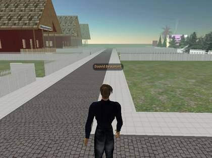 Second Life ganska öde.