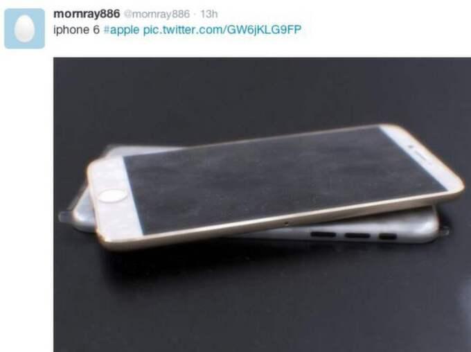 Teknikbloggaren Sonny Dickson skriver att han inte är 100 procent säkert på att bilderna visar den nya Iphonen. Foto: Twitter