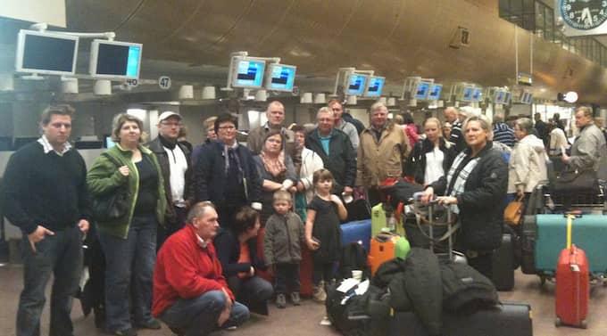 En turistgrupp som skulle resa till Egypten i dag vågade inte åka på grund av det spända läget. Foto: Läsarbild